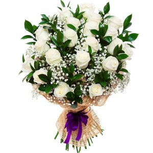 35940415 - bouquet of beautiful white roses isolated on white. a great gift to a woman for an anniversary, birthday, valentine
