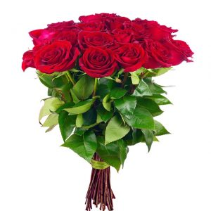 40587590 - bouquet of blossoming dark red roses isolated on white background. closeup.